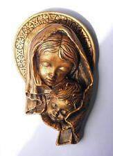 Jesus holy Mary handmade plaster casting santa colour gold