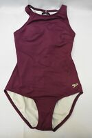 Speedo High Neck One-Piece Swimsuit, Women's Size 6, Plum NWT