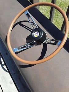 Mopar Dodge Plymouth A B body Woodgrain Rallye Steering Wheel 1968 1969  NEW