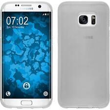 Silikon Hülle für Samsung Galaxy S7 Edge weiß transparent Cover