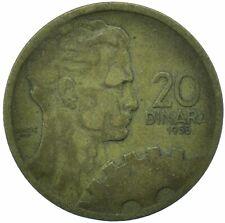 COIN / YUGOSLAVIA / 20 DINAR 1955 BEAUTIFUL COLLECTIBLE  #WT29994