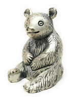 Vintage Peltro Italy Sitting Bear Animal Pewter Figurine Italian Made