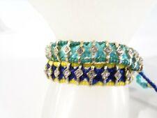 J.Crew Women's Friendship Bracelet NWOT 39 Each Set of 2 Pieces beaded Crystal
