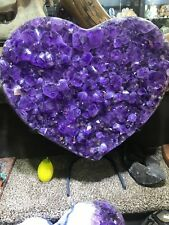 HEART AMETHYST GEODE FROM BRAZIL PIRATE GOLD COINS TREASURES CRYSTAL QUARTZ