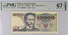 Poland 10000 Zlotych 1987 P 151 a Superb Gem UNC PMG 67 EPQ