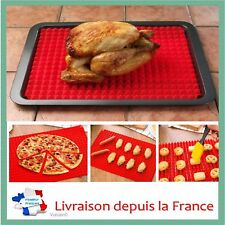 Plateau de cuisson four en silicone Tapis de Cuisson Plaque à Pâtisserie Pizza