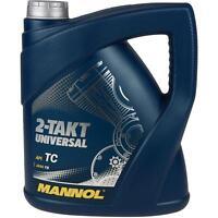 4 Liter Orignal MANNOL Motoröl 2-Takt Universal API TC Engine Oil Öl