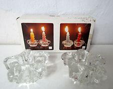 Bougeoirs étoile en verre transparent Vintage