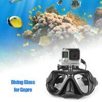 Plongée Masque Tuba Lunettes Visage Support pour GOPRO Hero 7 6 5