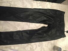 Roma Concepts Girls Faux Leather Pants size large black New with tags