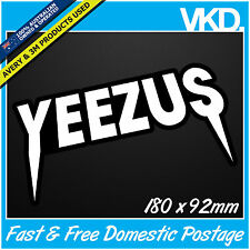 Yeezus Kanye West Sticker/Decal - Hip Hop Band Music Yeezy R&B Rap Jay Z Beyonce