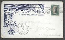 Corona Ship Postcard w/ Pan American Exposition Buffalo NY PM! Am Expo