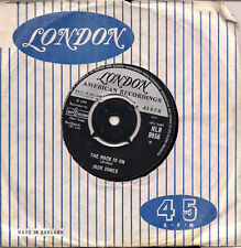 "Jack Jones The Race Is On UK 45 7"" single +I Can't Believe I'm Losing You"
