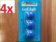 12x Golf Balls in Blue Colour Coloured Golf Balls Made in Korea