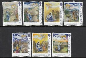 ALDERNEY 31 OCT 2012 THE CHRISTMAS STORY SET OF ALL 7 COMMEMORATIVE STAMPS MH