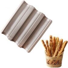Baking Tray Nonstick Carbon Steel Baguette French Bread Pans Kitchen Accessories