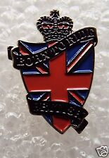 Born to Ride British enamel pin / lapel badge Classic biker Union Jack