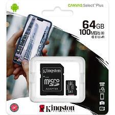 Kingston 64GB Micro SD SDXC MicroSD Tarjeta Memoria 64 G GB Canvas Select Plus