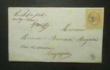 10c bistre Napoléon lauré N° 28 obl  cachet facteur H sur lettre