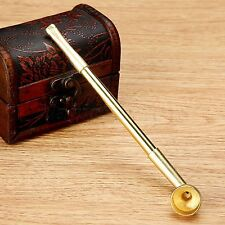 Collectable Smoking Pipe Retractable Tobacco Stem Zinc Copper Straight Small