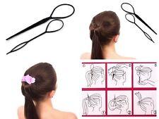 Set Topsy Tail 4 Elemente Füllstoff Haarknoten Knotenrolle Kokpin 3 Farben Blau Beauty & Gesundheit