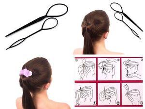 2er Set Topsy Tails Frisurenhilfe Haar Twister Hair Twister Haarschlaufen Zopf