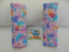 Child Baby Seat Belt Strap Covers Car Pram Capsule Stroller - Rainbow Unicorns