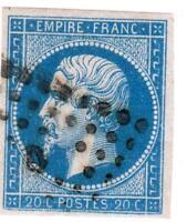 EMPIRE   N°14 A (  ) oblitéré  bureau de quartiers de Paris