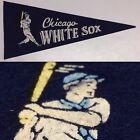 1960s Vintage Chicago White Sox Baseball Mlb 4x9 Mini Pennant Flag Banner Illi