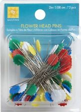 EZ Flower Head Quilting Pins. Sewing flat head pins 75pcs.
