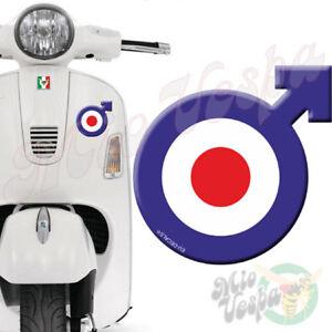 Male Symbol Target Blue 3D Decal sticker for Vespa GTS GTV GTL GT ET PX ET Super