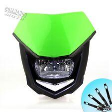 Green Headlamp Dirt Bike Motorcycle Vision Headlight For Kawasaki KLX400SR 2003