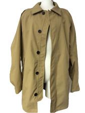 Timberland Waterproof Trench Coat Raincoat Womens Jacket Tan Button Up Short