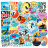 50pcs Surfing Sandy Beach Car Luggage Skateboard  Decals Laptop Stickers Cool