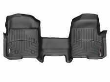 WeatherTech FloorLiner Mats for Ford F-150 2010-2014 - 1st Row OTH Black