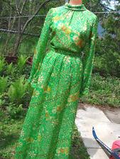 Vintage 70s Skirt Set NELLY DE GRAB Garden Party Chiffon Maxi 2pc XS
