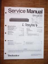 Service Manual Technics sh-ge50 ecualizador, original