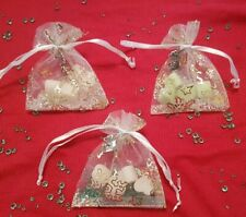 Christmas table decoration wedding favours gift heart scent wax melt organza bag