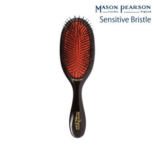 Mason Pearson Handy Sensitive SB3, Pocket SB4 Dark Ruby, Ivory, Pink, Blue