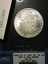 1880/79-CC GSA**VAM-4**NGC MS63**BEAUTIFUL WHITE COIN(great strike, full luster)