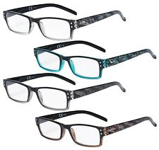 Eyekepper 4 Pack Fashion Readers Great Value Quality Reading Glasses