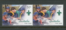 Australian Stamps: 2008 Centenary of Scouts in Australia - $0.50 Pair