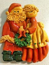 Santa & Mrs. Claus ~ Handcrafted Decoration~Dated 1994