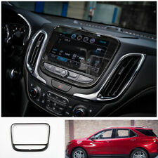 FOR Chevrolet Equinox 2018-2020 black Wood grain middle console Navigation panel
