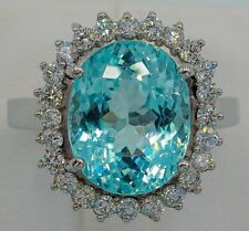 """Very Unique Solid 925 Silve Ring With a Rare """"Paraiba"""" Tourmaline 15.42CT Stone"""