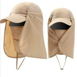 Sun UV 360° Protection Cap Hat Neck Face Cover Mask for Fishing Camping Hunting