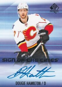 DOUGIE HAMILTON NO:SOTT-DH SIGN OF THE TIMES in SP AUTHENTIC 2015-16    a