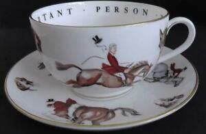 Royal Worcester VIP Hunting Scenes Cup and Saucer