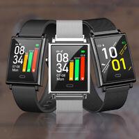 Waterproof Square Blood Pressure Long Standby Wearable Smart Watch Women