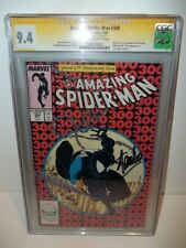 CGC 9.4 SS (NM) AMAZING SPIDER-MAN #300 1988 1ST VENOM APP SIGNED BY STAN LEE!!!